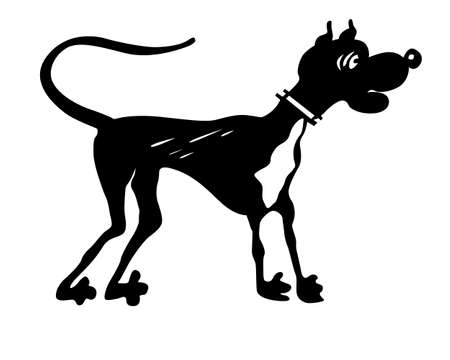 silhouette dog on white background Stock Vector - 8768593