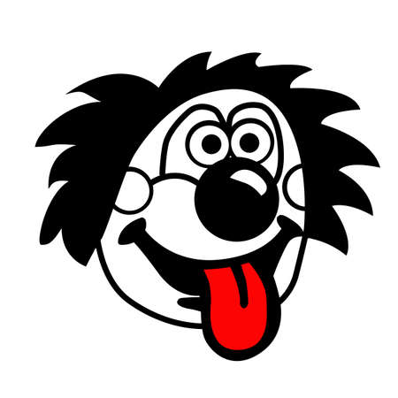 silhouette clown on white background Vector