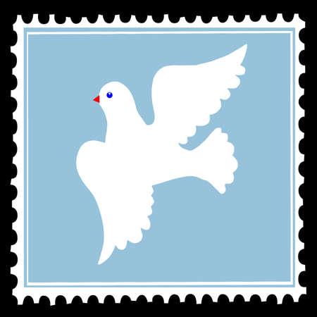 Blanca Paloma en azules los sellos postales