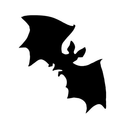 superstitions: vector silhouette bat on white background Illustration