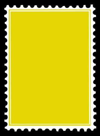 silhouette di vettore dei francobolli su sfondo nero