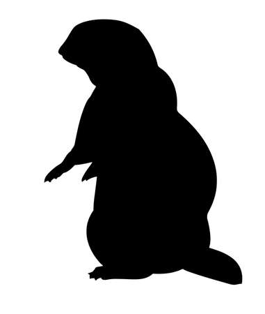 gopher: vector silhouette gopher on white background