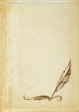 retro pen on grunge background photo