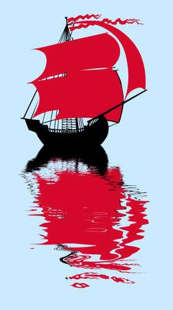 sailfish: pesce vela con vela rosso