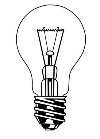 focos de luz: bombilla sobre fondo blanco