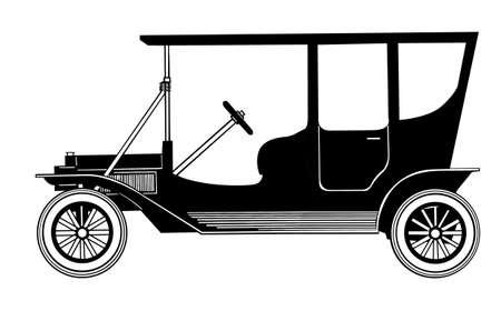 retro car on white background Stock Vector - 9120981