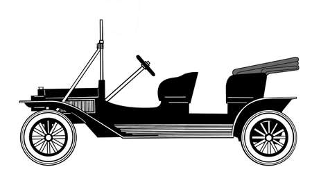 silhouette retro car on white background Stock Vector - 9121013