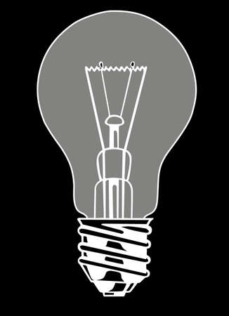 lighting bulb: vector light bulb on black background