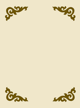 vector frame on yellow background Vector