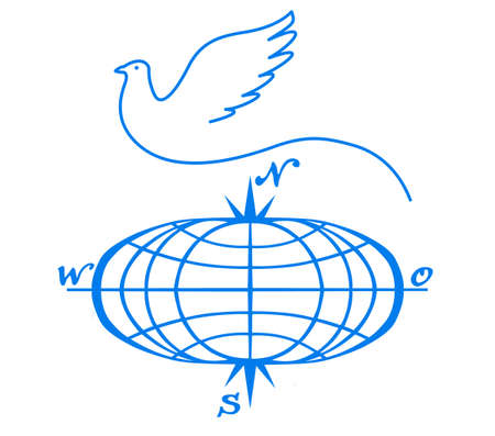 doves: vector symbol on white background