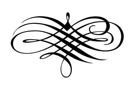 corner ornament: vector ornament on white background Illustration