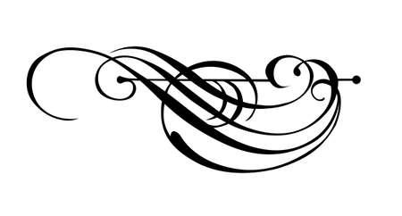 Vector ornamento su sfondo bianco