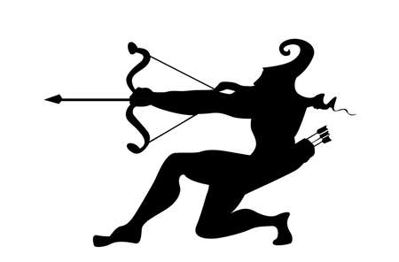 panoply: silhouette of the arrows on white background