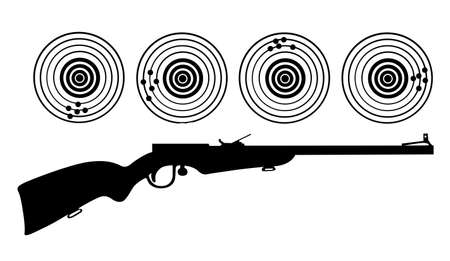 rifle: silhouette of the rifle on white background Illustration