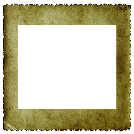 yellow photo: frame from old paper