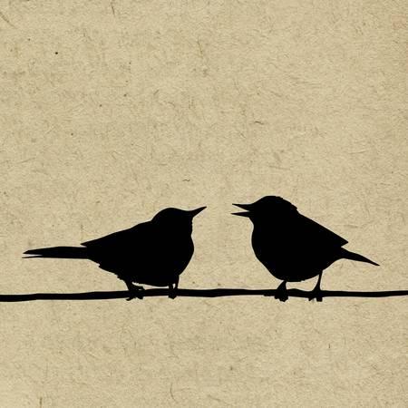 water bird: vector grunge background Illustration