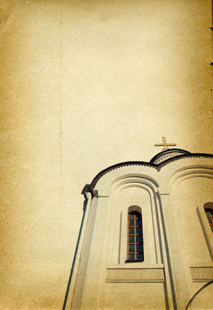 church window: grunge background