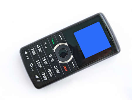 clr: mobile telephone on white background
