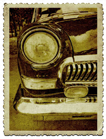 retro car on old photography Stock Photo - 10720073