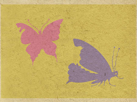 two butterflies on grunge background photo