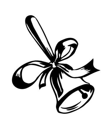 call bell:  drawing of the campanula on white background Stock Photo
