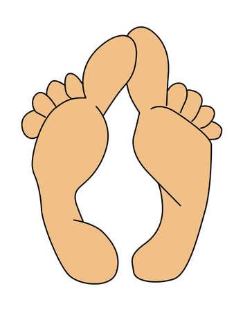 clip art feet: vector silhouette leg on white background