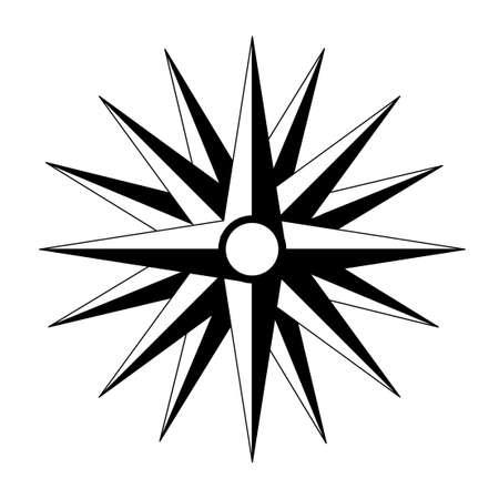 puntos cardinales: vector de puntos cardinales