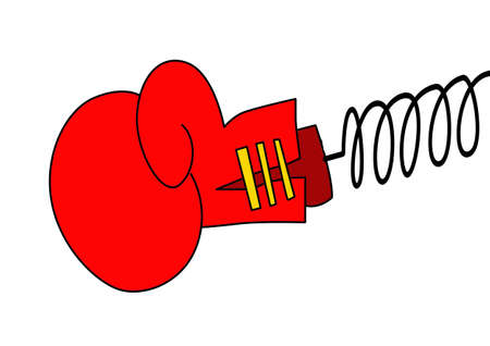 boxing glove: vector boxing glove on white background Illustration