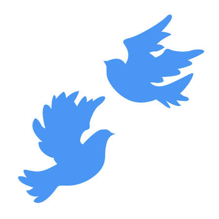 vector silhouette dove on white background Vector