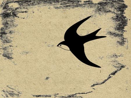 swallow bird:  vector grunge background