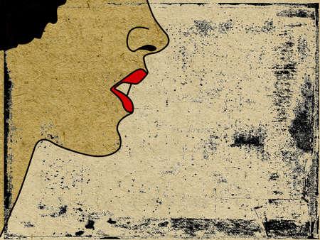 spoiled: vector grunge background Illustration