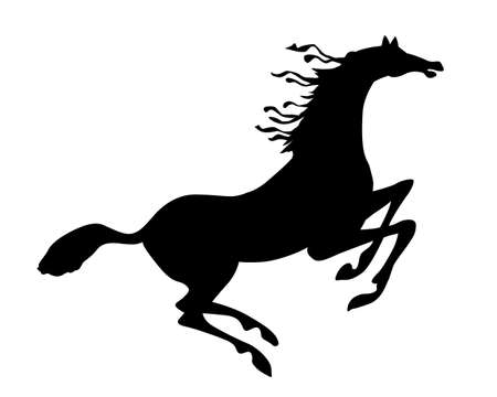 vector silhouette horse on white background Vector