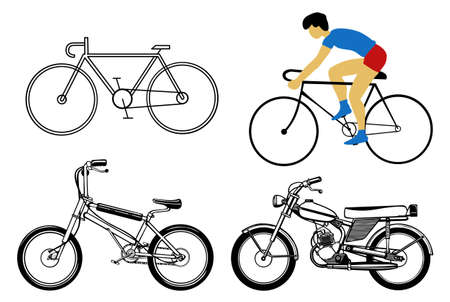 vector set bicycle on white background Vector