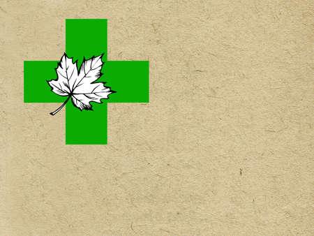 vector maple leaf on grunge background