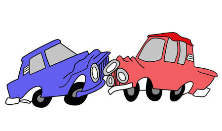 vector drawing of the cars on white background Vector