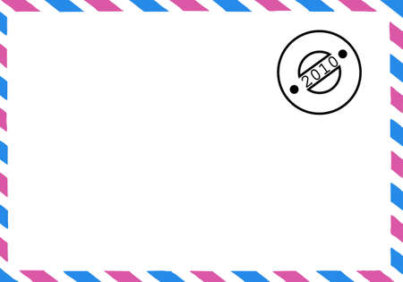 embedding: vector drawing of the old postal envelope Stock Photo