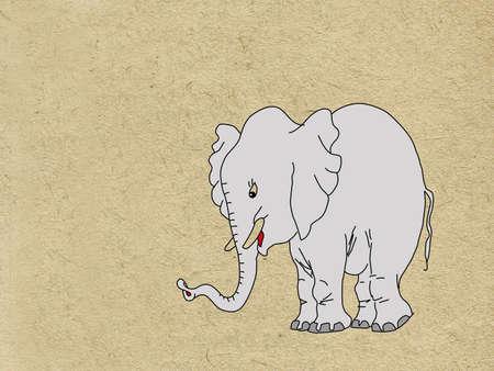 rifts: gray elephant on grunge background Illustration