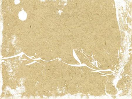 spoiled frame: nave on seaborne on grunge  background Illustration
