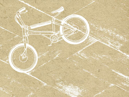 bicycle on grunge background Vector