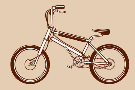 bicycle silhouette on yellow background, vector illustration Vector