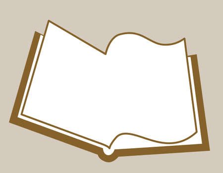 openning book silhouette on brown background, vector illustration Vector