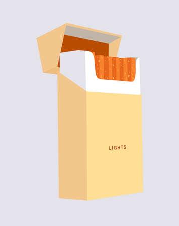 cigarette pack:  cigarette pack on gray background, vector illustration