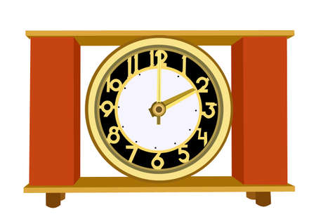 retro alarm clock on white background, vector illustration Stock Vector - 11579555