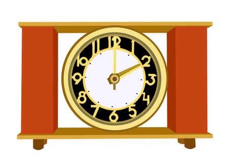 retro alarm clock on white background, vector illustration Vector