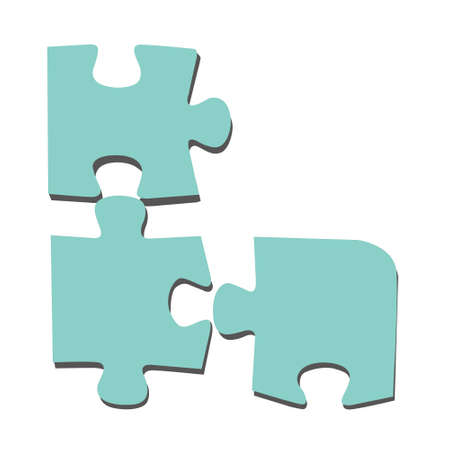puzzle on white background, vector illustration Vector