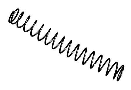 fil de fer: ressort en acier sur fond blanc, illustration vectorielle Illustration