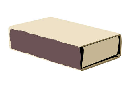caja de cerillas: caja de cerillas de dibujo sobre fondo blanco, ilustraci�n vectorial Vectores