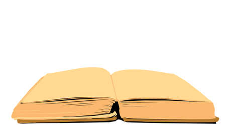 aging book on white background, vector illustration Vector