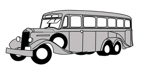 retro bus on white background, vector illustration Vector
