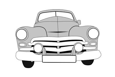 prestige car: retro car on white background, vector illustration Illustration